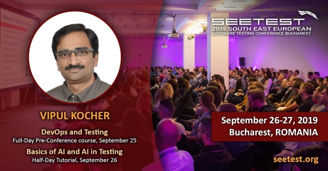 Vipul Kocher is our first speaker at SEETEST 2019!