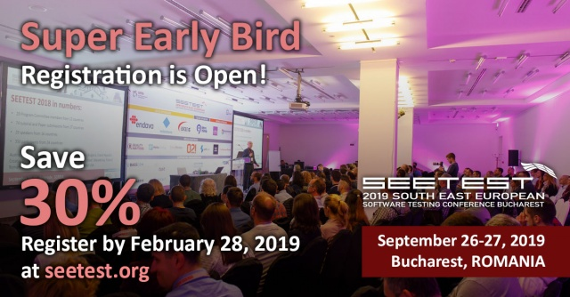 SEETEST 2019 Super Early Bird Registry is open!