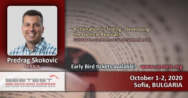 Announcing Predrag Skokovic as one of our course speakers!