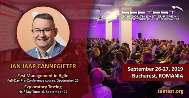 Jan Jaap Cannegieter will be speaking at SEETEST 2019!